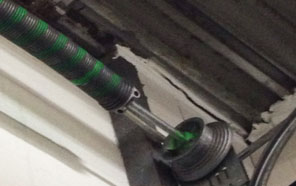Broken Torsion spring garage door Rockville